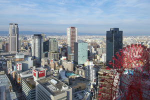 大阪駅前のオフィス街